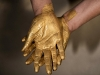 Golden Working Hands