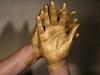 Golden Working Hands